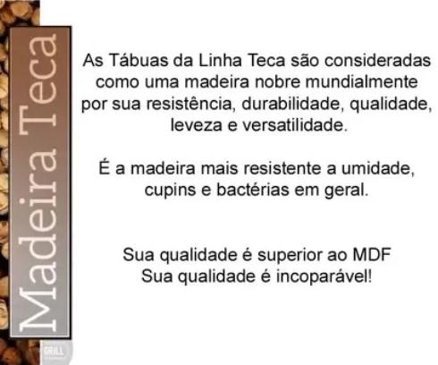GAMELA EM MADEIRA TECA - MED 47,5 X 31,5 - STOLF