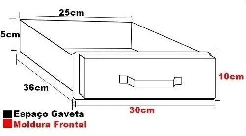 Gaveta para churrasqueira em INOX 430 med. 25 x 36