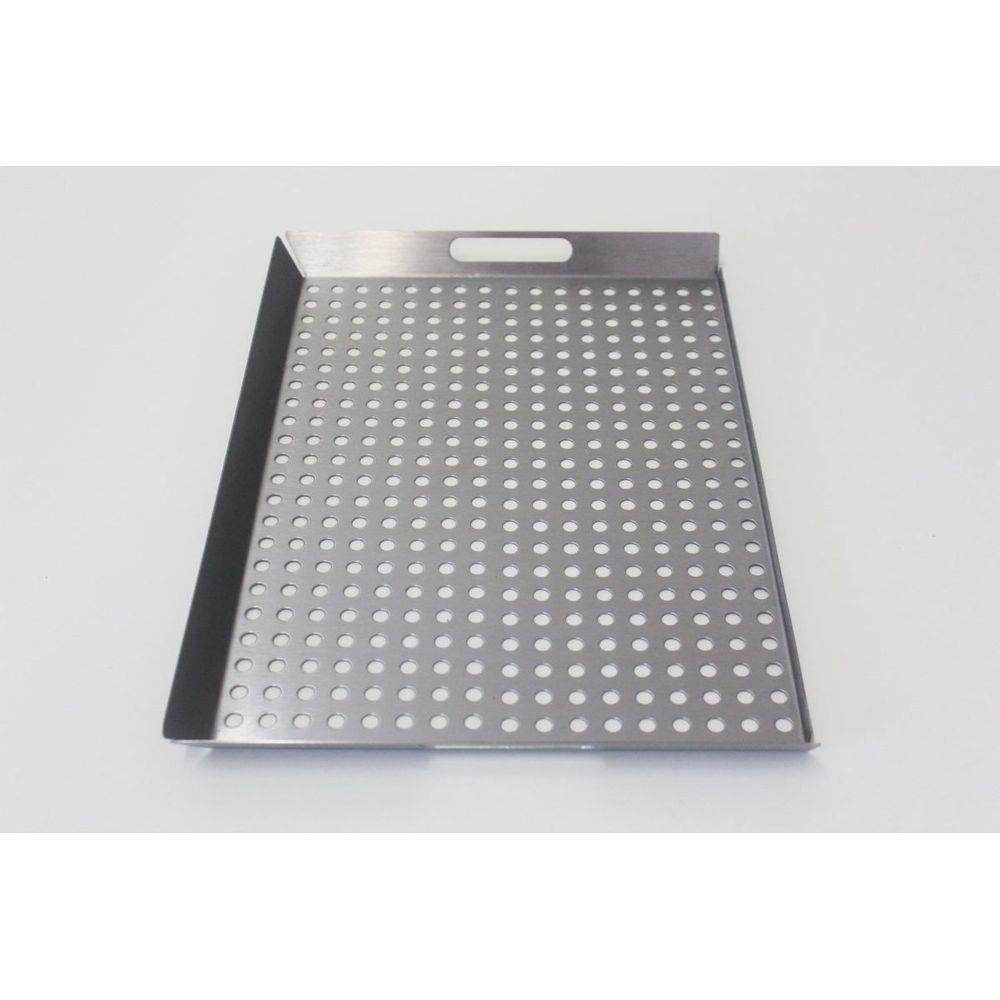 GRELHA MULTIUSO 36 X 27 COM ABAS INOX 430 - SELMETAL