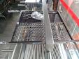 Grelha para churrasco 1/2 chapa e 1/2 moeda em inox 53x48cm