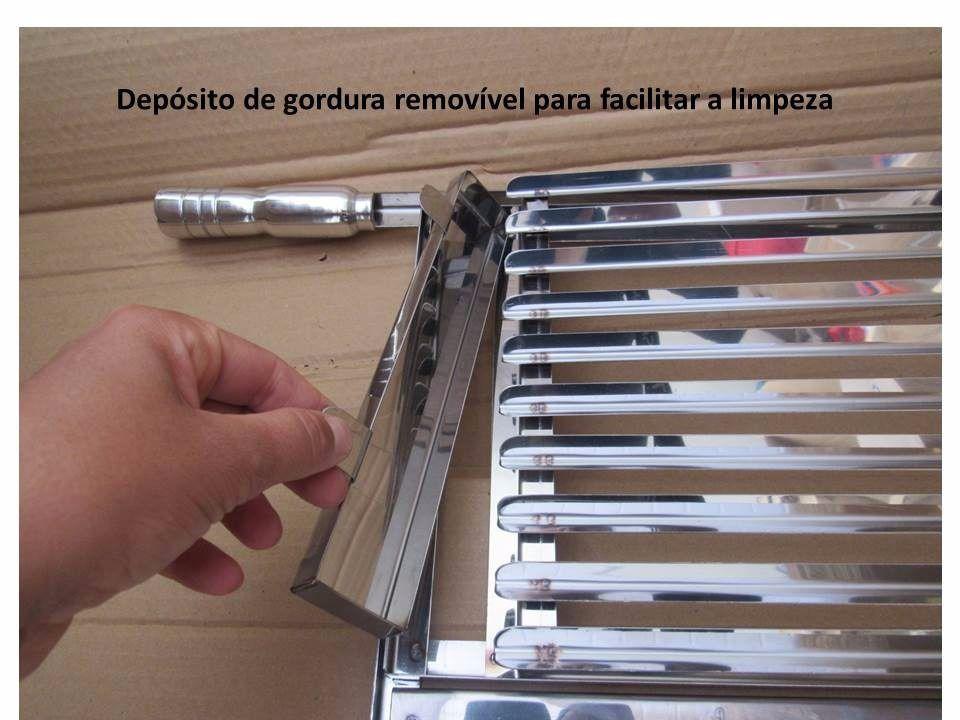 Grelha para churrasco argentina e moeda em inox 60x49cm