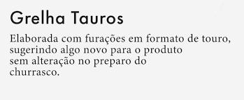 Grelha para churrasco Gourmet Taurus 30x50cm Aço Inox - Selmetal