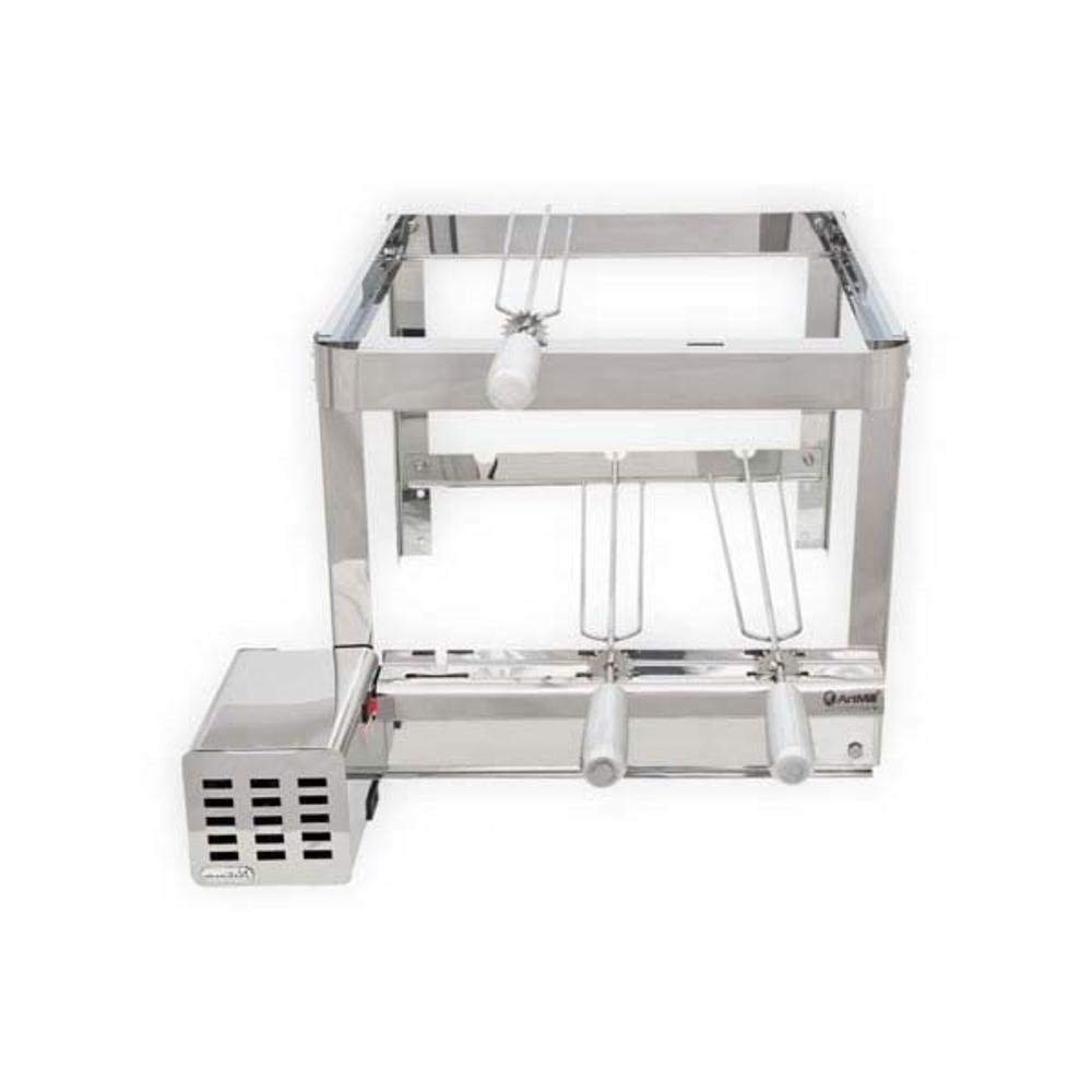 Grill Giratório 3 Espetos Platinum Inox - Artmill