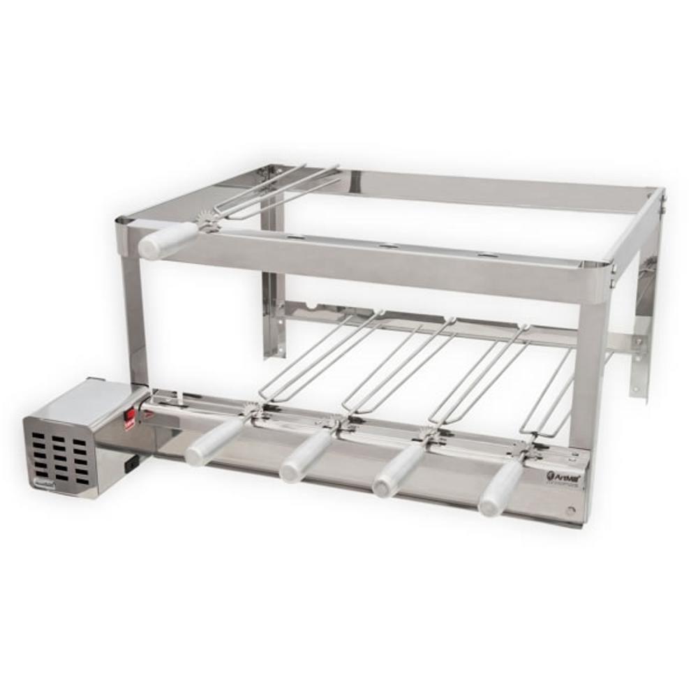 Grill Giratório 5 Espetos Platinum Inox - Artmill