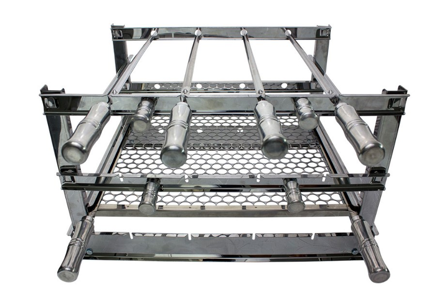 Grill Manual Inox suporte para grelhas med 59x53cm