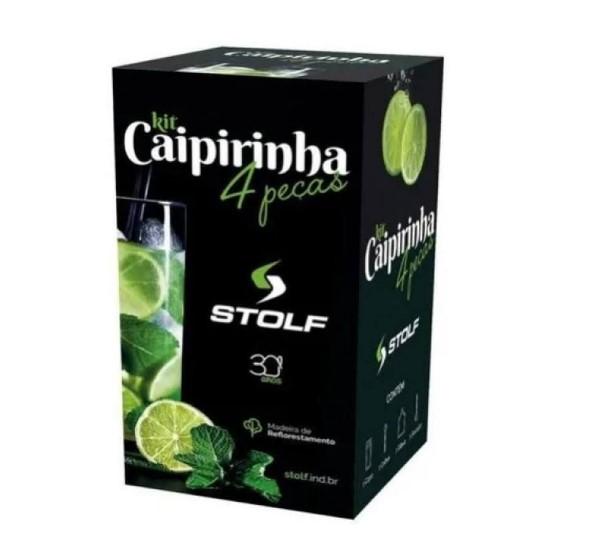Kit Caipirinha Junior com Copo, Colher, Tabua e Socador - STOLF