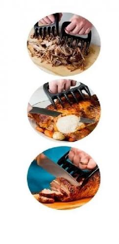 kit churrasco Manta + Garra de Urso + Acendedor de churrasqueira + limpa grelha