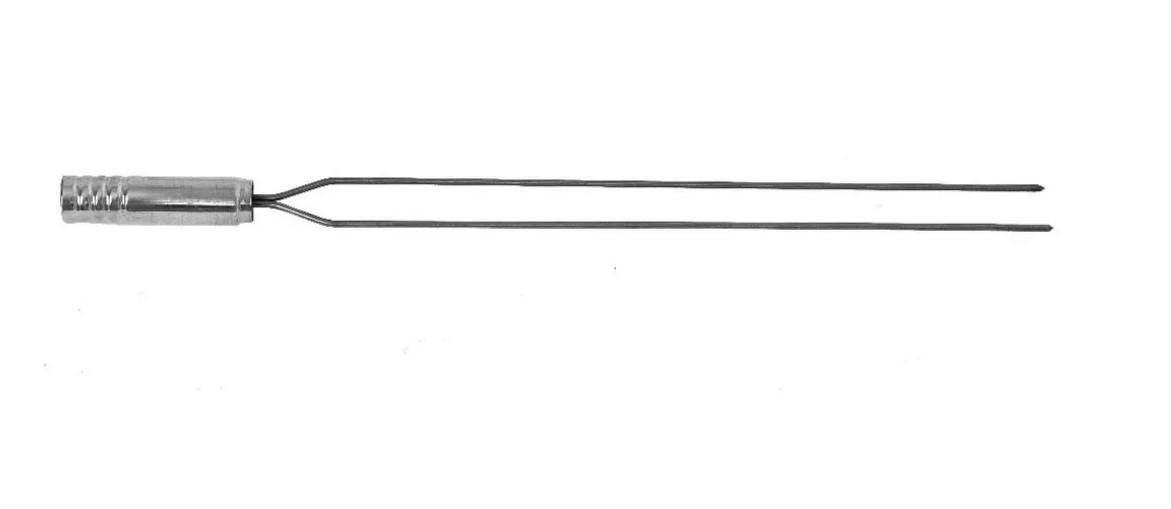 KIT GRELHA MOEDA 55x45 + ESPETO SIMPLES + ESPETO DUPLO + KIT LIMPA GRELHAS COM ESCOVA