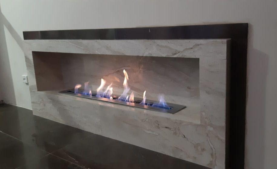 Lareira queimador a Álcool para embutir K3 - 101cm