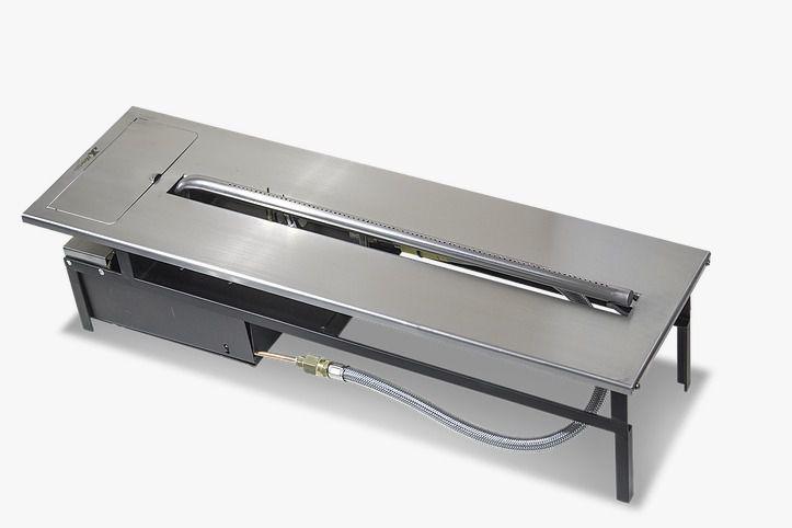 Lareira A Gas 1,60m - Inox 304 JX
