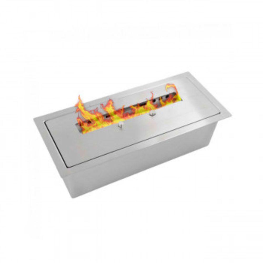 Lareira Ecológica A Álcool 28 Cm Capacidade 1,5 Litros Em Inox modelo Vênus Victrix