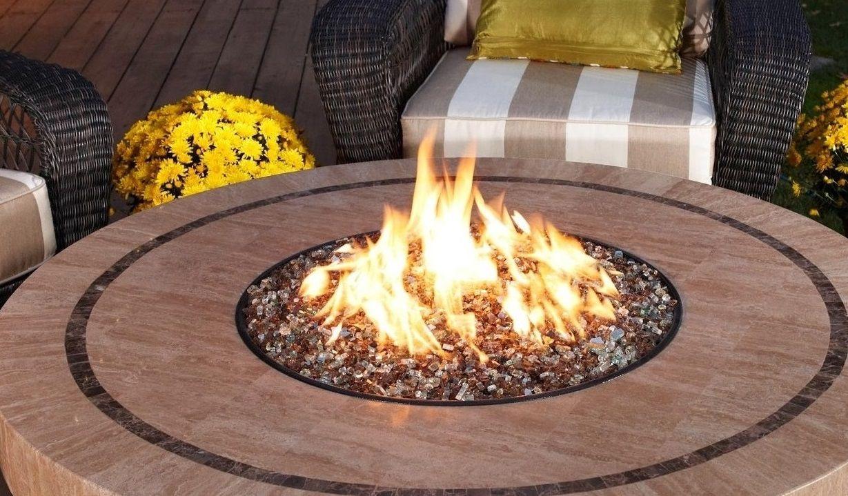 Lareira Fire Pit a Gás Para Áreas Externas - Redondo 37cm