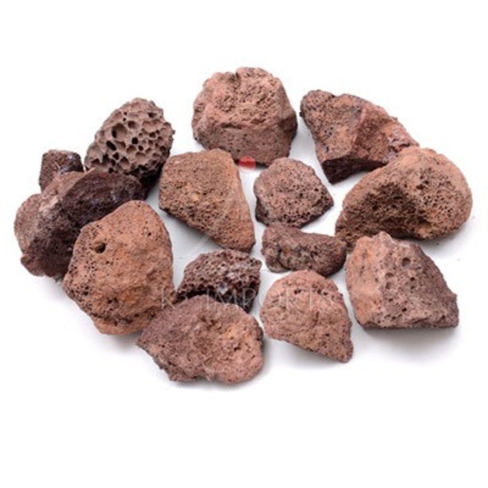 Pedra Vulcânica Marron Para Lareira Ou Churrasqueira Pacote 10kg