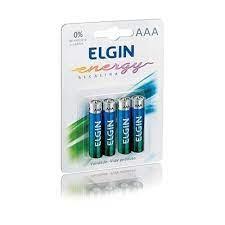 Pilha Alcalina AAA Blister com 4 peças - Elgin