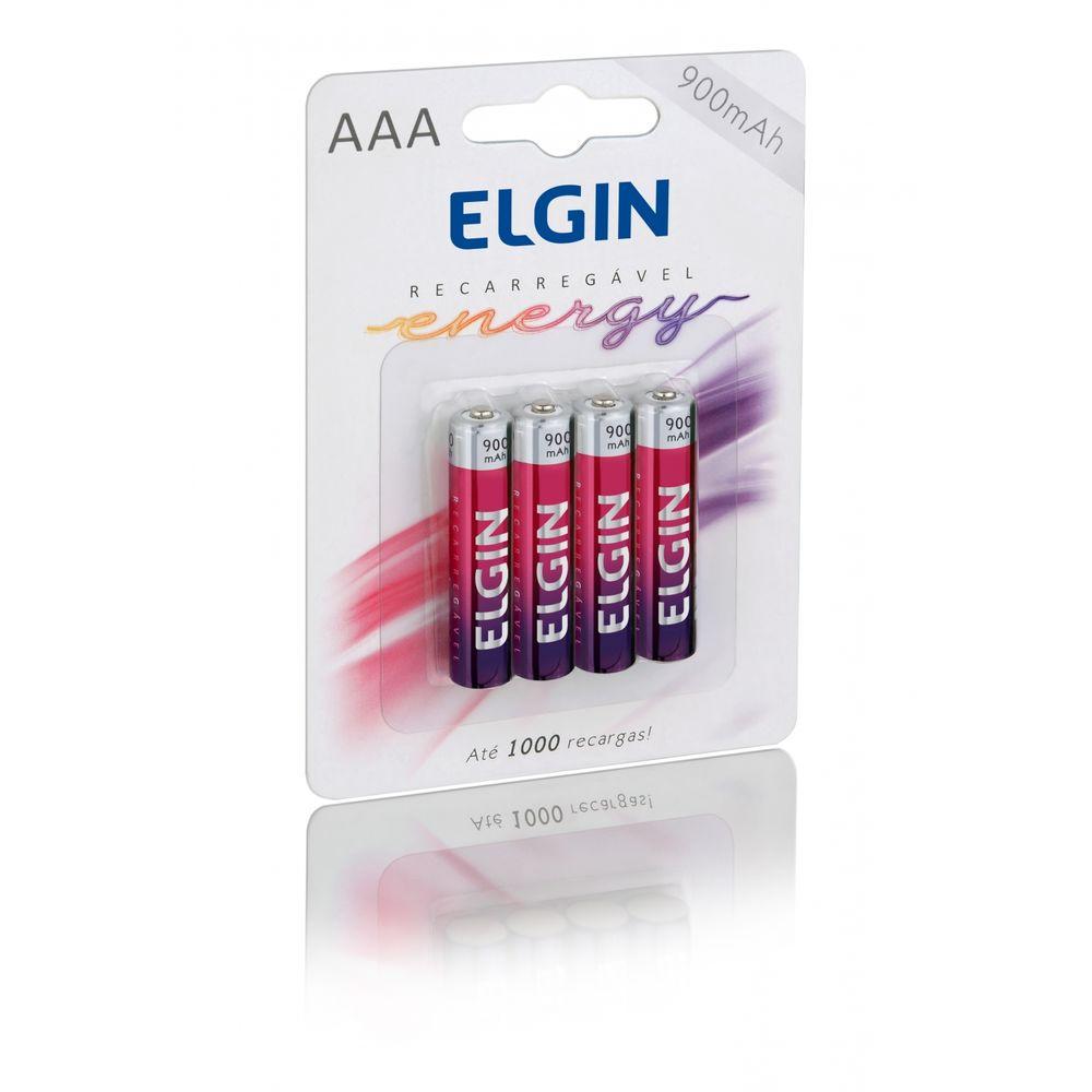 Pilha Recarregável AAA-900 MAH - Blister c/ 4 - Elgin