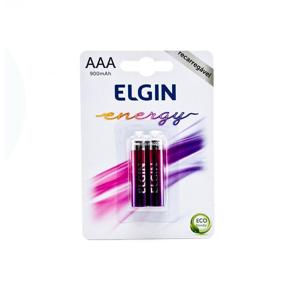 Pilha Recarregável AAA-900 MAH Blister com 2 Peças - Elgin