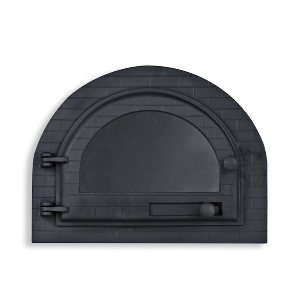Porta para forno iglu com vidro  mod.  grande - LIBANEZA