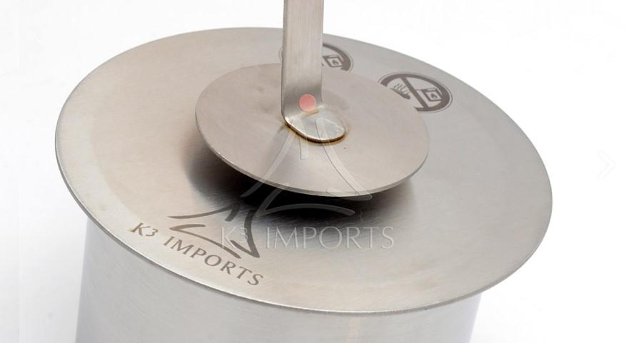 Queimador Redondo A Álcool Para Lareira 15 Cm - 1 Litro