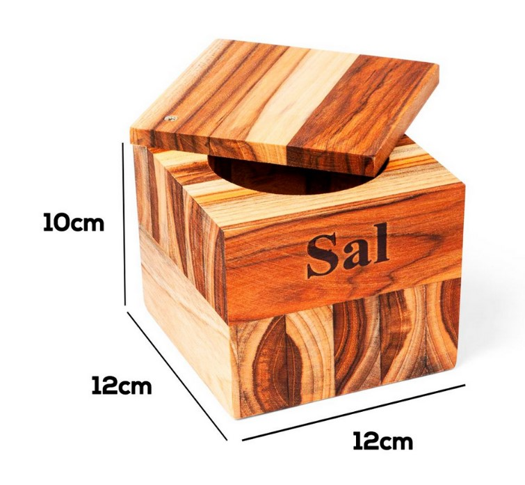 SALEIRO TECA PREMIUM MED. 12X12X10 - STOLF
