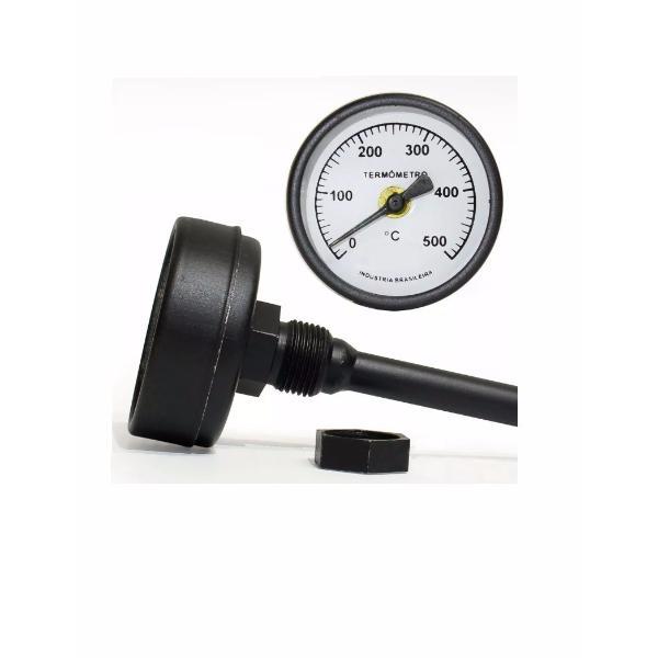 Termômetro 500 Graus Para Forno Iglu haste 200mm