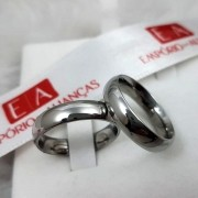 Aliança Aço Cirúrgico Lisa 5mm