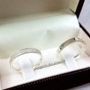 Aliança de Prata Namoro com Pedra