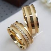 Alianças Ouro 18k 8mm Casamento