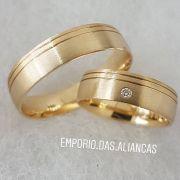 Alianças de Casamento com Pedra