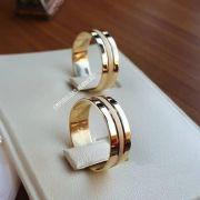 Alianças Ouro 18k Casamento Noivado Quadrada Trabalhada Reta 7mm 8 Gramas o Par