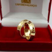 Alianças Ouro 18k Noivado Casamento Côncova Anatômica 6mm 6 Gramas o Par