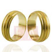 Alianças Ouro Casamento Noivado 18k Anatomica Fosca 7mm 10 gramas o Par