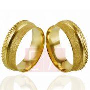Alianças Ouro Casamento Noivado 18k Anatômica Fosca 7mm 11 Gramas o Par