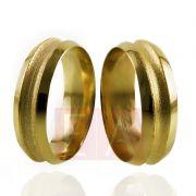 Alianças Ouro Casamento Noivado 18k Anatomica Fosca Polida 7mm 11 gramas o Par