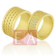 Alianças Ouro Casamento Noivado 18k Polida Brilhante 10mm  24 gramas