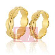 Alianças Ouro Casamento Noivado 18k Polida 6mm 12 gramas