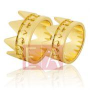 Alianças Ouro Casamento Noivado 18k Quadrada Polida Coroa 13 mm 22 gramas o Par