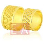 Alianças Ouro Casamento Noivado 18k Trabalhada Brilhantes  12 mm 18 gramas