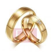 Alianças Ouro Noivado Casamento 18k Quadrada Brilhante Trabalhada Anatômica 6mm 10 Gramas