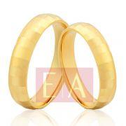 Alianças Ouro Noivado Casamento Redonda Chapada Globinho Anatômica 4mm 10 Gramas