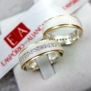 Alianças Prata Compromisso Namoro Quadrada Fosca Anatômica Pedra Zircônia Banho Ouro 7mm 18 Gramas o Par