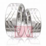 Alianças Prata Compromisso Namoro Quadrada Lisa Trabalhada Friso 8 mm 16 gramas
