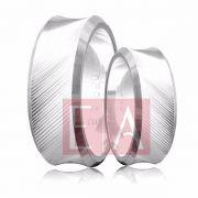 Alianças Prata Compromisso Namoro Quadrada Polida Lisa 8mm 15 gramas Anatômica Trabalhada Concôva