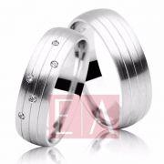Alianças Prata Compromisso Namoro Reddonda Pedra Zirconia Fosca Acetinada  8mm 14 gramas Anatômica