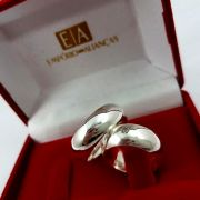 Alianças Prata Compromisso Namoro Redonda Abaulada Pedra Zircônia Anatômica 8mm 18 Gramas