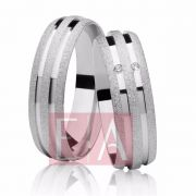 Alianças Prata Compromisso Namoro Redonda Pedra Zirconia  Fosca Diamantada Lisa 8mm 10 gramas Anatômica