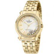 Relógio Champion Feminino Dourado Aço Analógico Passion CN29785H