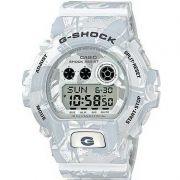 Relógio Casio Masculino G-Shock Branco Camuflado Cronógrafo Anadigi Resina GD-X6900MC-7DR