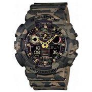 Relógio Casio Masculino G-Shock Camuflado Cronógrafo Anadigi Resina GA-100CM-5ADR
