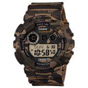 Relógio Casio Masculino G-Shock Camuflado Cronógrafo Anadigi Resina GD-120CM-5DR