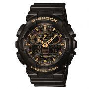 Relógio Casio Masculino G-Shock Preto Cronógrafo Anadigi Resina GA-100CF-1A9DR